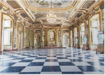Hall of Ambassadors in Queluz National Palace, Portugal Poster