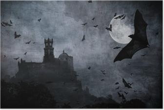 Poster Halloween bakgrund