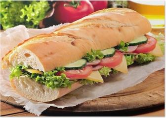 Ham salad submarine sandwich Poster