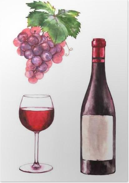 Merlot Wine And Grapes Shower Curtain Italian Shower