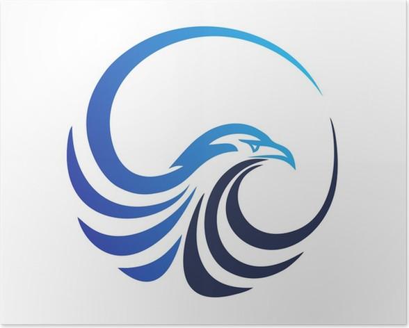 Hawk Logoeagle Symbolbird Iconmedia Modern Business Poster