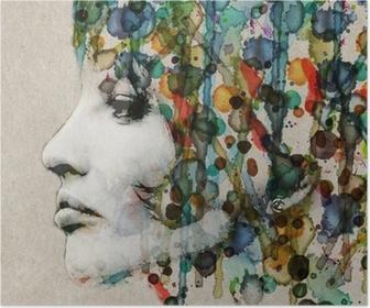 Poster HD Aquarelle profil femelle
