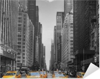 Avenue avec des taxis à New York. Poster HD