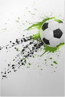 Poster HD Ballon de football en vol