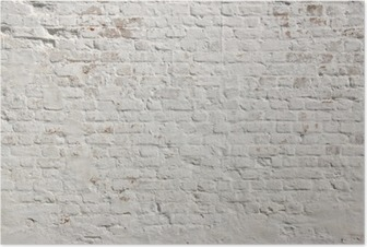 Poster HD Blanc grunge fond mur de briques