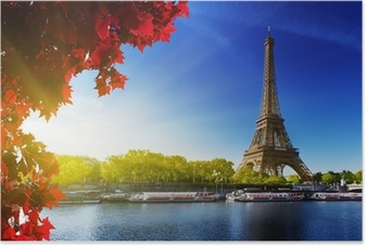 color of autumn in Paris Poster HD