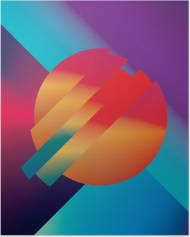 Material design abstract vector background with geometric isometric shapes. Vivid, bright, glossy colorful symbol for wallpaper. Poster HD