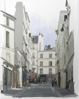 Poster HD Rue près de Montmartre à Paris