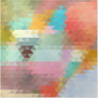 Poster Heldere achtergrond van de driehoeken