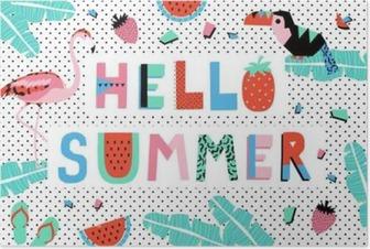 Poster Hello sommar affisch