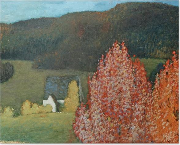 Poster Helmer Osslund - Herfstig landschap met bomen - Reproductions