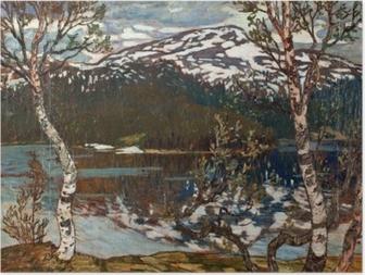 Poster Helmer Osslund - Jarní den u jezera Rensjön nedaleko Åre
