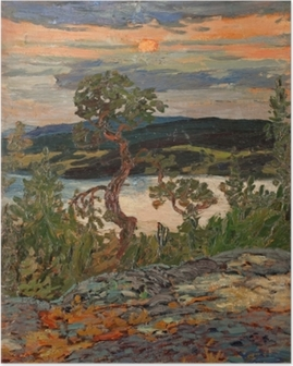 Poster Helmer Osslund - Soirée à Ångermanland