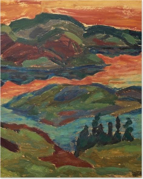 Poster Helmer Osslund - Soirée au fleuve Ljungan - Reproductions