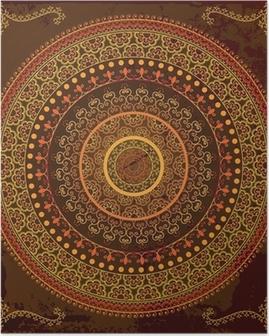 Poster Henna mandala design - Très détaillée et facilement modifiable