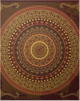Henna mandala design - Very detailed and easily editable Poster