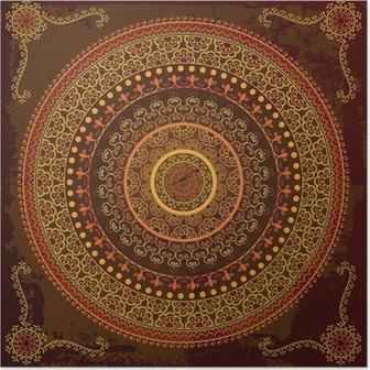 Poster Henna mandala ontwerp - Zeer gedetailleerd en gemakkelijk te bewerken