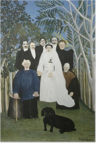 Póster Henri Rousseau - La fiesta de la boda - Reproducciones