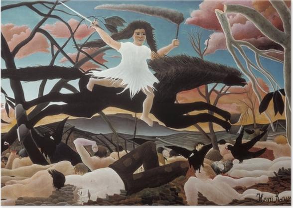 Poster Henri Rousseau - La Guerre - Reproductions