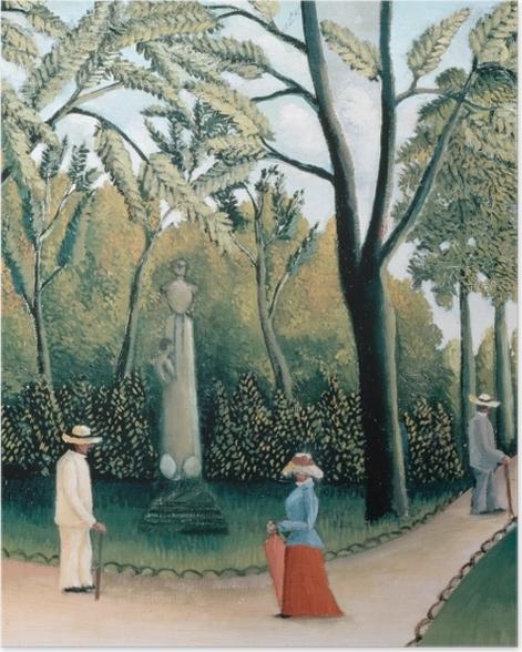 Poster Henri Rousseau - Le Monument de Chopin dans les jardins du Luxembourg - Reproductions