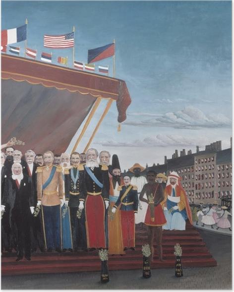 Poster Henri Rousseau - Les représentants des puissances étrangères venant saluer la République en signe de paix - Reproductions