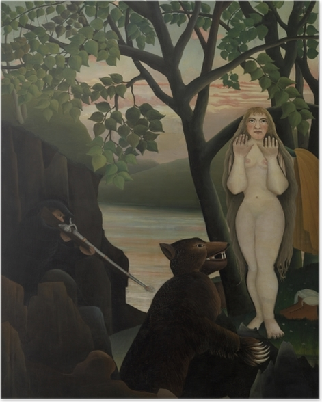 Poster Henri Rousseau - Mauvaise surprise - Reproductions