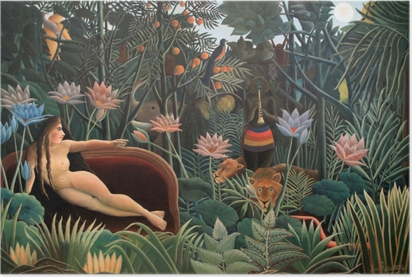 Henri Rousseau - The Artist Painting His Wife Poster - Reproductions