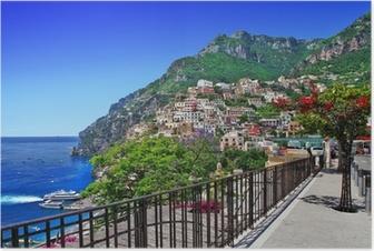 Póster Hermosa Positano, Costa de Amalfi de Italia
