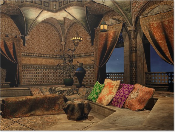 Poster Het interieur van het Arabisch sprookjespaleis • Pixers® - We ...