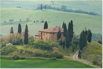 Poster Het landschap van Toscanië - belvedere