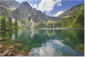 Poster Het mooie landschap van de Tatra bergen en het meer in Polen