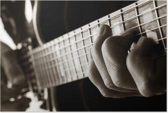 Poster Het spelen van jazz gitaar