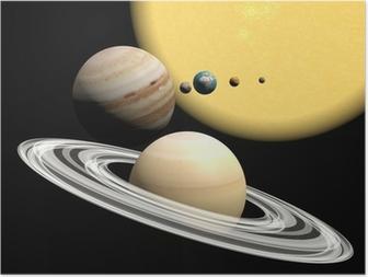Poster Het zonnestelsel, abstact presentatie.