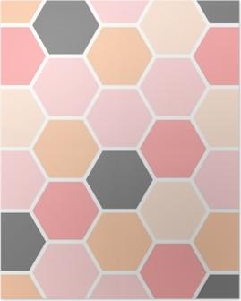 Hexagon Seamless Pattern Poster