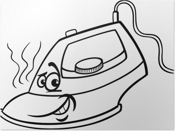 Póster Hierro caliente para colorear de dibujos animados • Pixers ...
