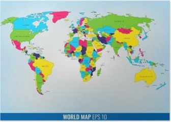 High Detail World Map. Vector