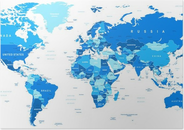 Highly detailed vector illustration of world maprders countries highly detailed vector illustration of world maprders countries and cities poster gumiabroncs Images