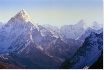Himalaya Mountains Poster
