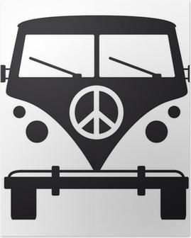 Póster Hippies, la paz y el amor