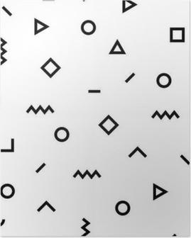 Hipster memphis pattern with geometric shapes Poster