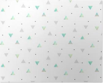Poster Hipster mönster med trianglar textur hologram