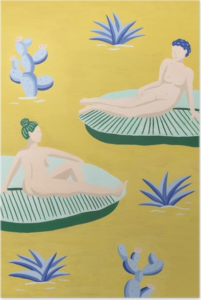 Holiday chill - Mathilde Poster - Contemporary artists