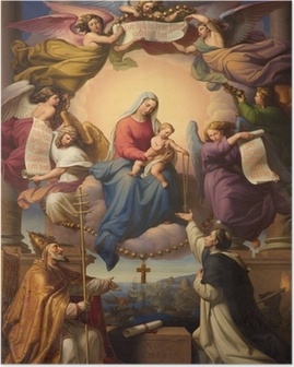 holy Mary and little Jesus from Vienna church Poster