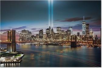 Poster Hommage au Mémorial Lumière le 11 Septembre, 2014
