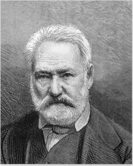 Poster Homme barbu - 19e siècle - Victor Hugo
