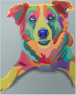 Poster Hond pop-art