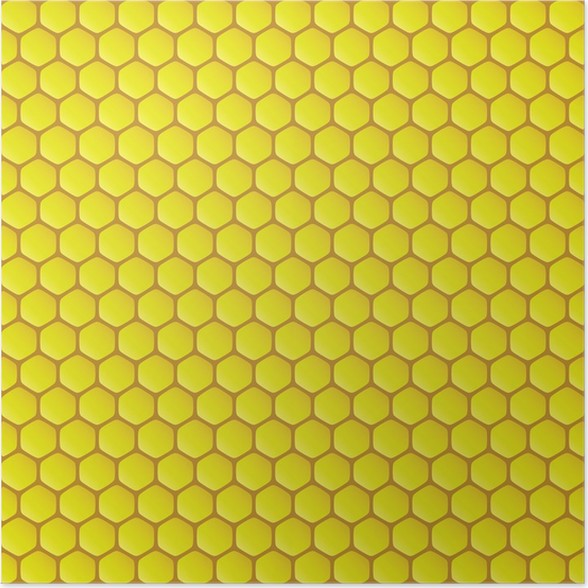 Honeycomb background vector illustration poster pixers we live honeycomb background vector illustration poster voltagebd Image collections