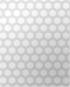 Honeycomb seamless pattern.Vector illustration.Hexagonal texture. Grid on white background. Geometric design. Modern stylish abstract texture. Template for print, textile, wrapping and decoration Poster