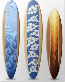 Poster Houten surfplanken