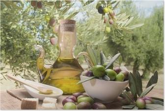 Poster Huile et d'olives